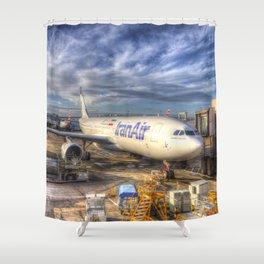Iran Air Airbus A330-200 Shower Curtain