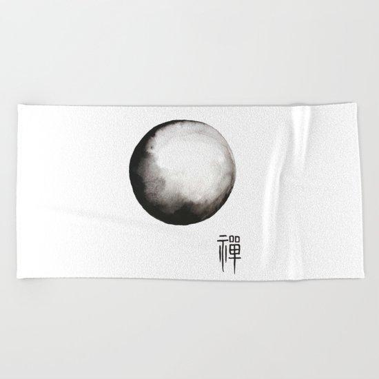 "Zen painting and Chinese calligraphy of ""Zen"" Beach Towel"