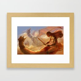 Dragon Hunting Framed Art Print