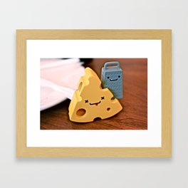 cheese and friends Framed Art Print