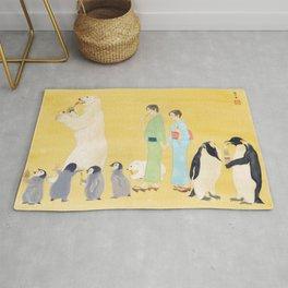Penguin and Polar Bear in JAPAN Rug