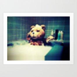 Pixel Ted Art Print