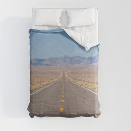 Open Road Photography, Loneliest Highway in America Photo, Nevada Road, Travel Photography Comforters