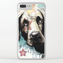 Doggyportrait Clear iPhone Case