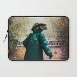Ronaldo Raven on his way to a Romantic Rendezvous Laptop Sleeve