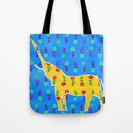 Elephant - yellow Tote Bag