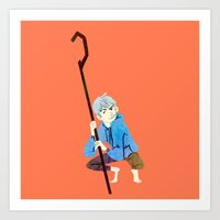 jack frost Art Prints featuring Jack Frost by Kaley Bales (polarbales)