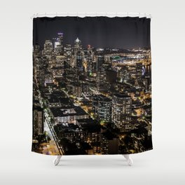 Seattle from the Space Needle Shower Curtain