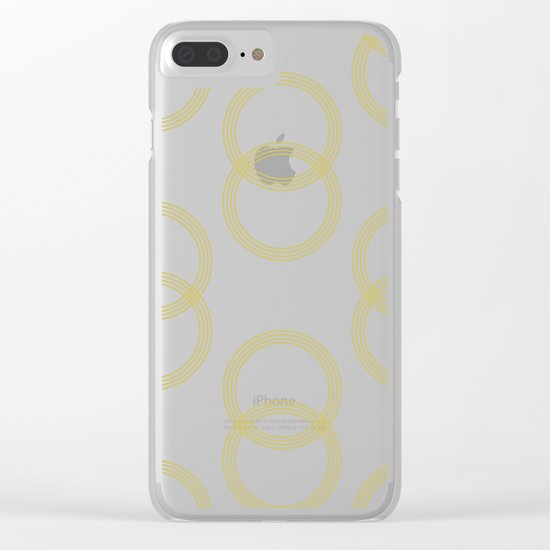 Simply Vintage Link Mod Yellow on White Clear iPhone Case