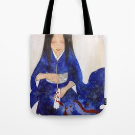 The Red candle and the Mermaid Tote Bag