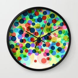 Dancing Bubbles Confetti Wall Clock