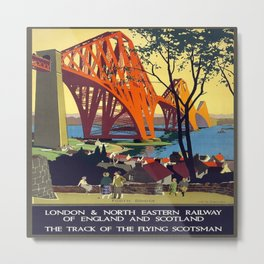 Vintage poster - Forth Bridge Metal Print