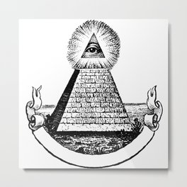 the Eye of Providence from the Great seal of America  All seeing Eye us dollar money cash Pyramid Metal Print
