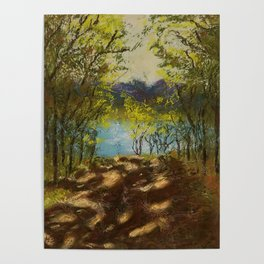 Chickies Rock Overlook Soft Pastel Painting Poster