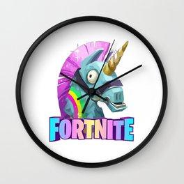 Unicorn Fortnites Wall Clock