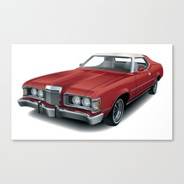 1970's Personal Luxury Coupe Canvas Print