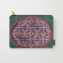 Song for Creativity - Traditional Shipibo Art - Indigenous Ayahuasca Patterns Carry-All Pouch