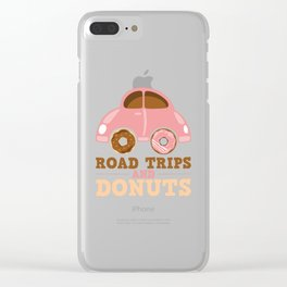 Road Trips And Donuts Clear iPhone Case