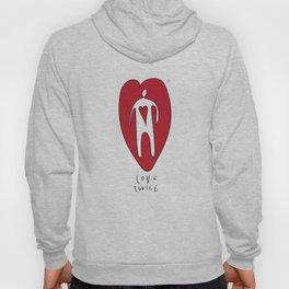 love twice Hoody
