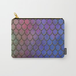 Colorful Gold Mermaid Scales Carry-All Pouch
