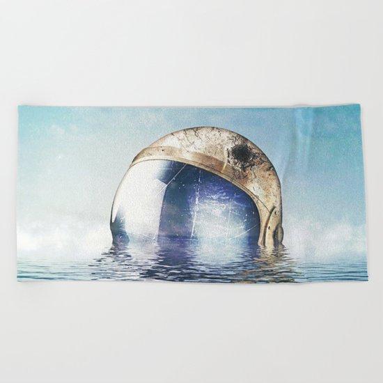 Flooded Beach Towel