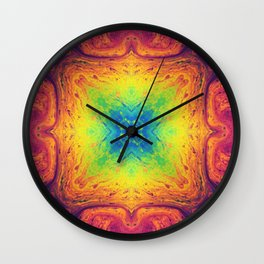 Psychedelic Two Wall Clock