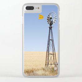 Australian Wheat-field Rural Landscape Clear iPhone Case