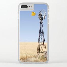 Australian Wheat-field Rural Landscape Clear iPhone Case