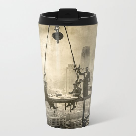 Sir, Where are your restrooms? Metal Travel Mug