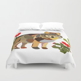 Wolf Endangered Mexican Gray Wolf Duvet Cover