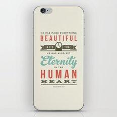 He has made everything beautiful iPhone Skin
