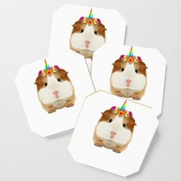 Guinea Pig Guinicorn Unicorn Rodent Wheek Gift Coaster