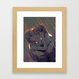 Supercat Kiss in the Rain Framed Art Print