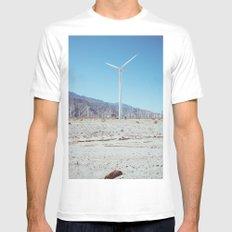 Palm Springs Windmills III MEDIUM Mens Fitted Tee White