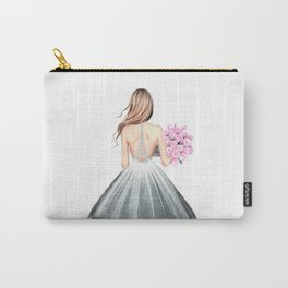 Paris print Fashion illustration Wedding dress art Paris theme Girls dorm art Eiffel wall art Romant Carry-All Pouch
