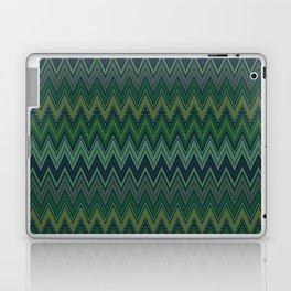 Dark green zigzag Laptop & iPad Skin