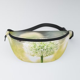 Allium fantasy flowers with butterfly Fanny Pack