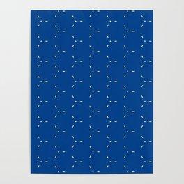 Decorative Bright Blue Pattern Poster