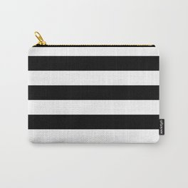 Black & White Stripes- Mix & Match with Simplicity of Life Carry-All Pouch