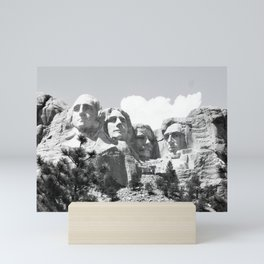 Mount Rushmore South Dakota Black and White Mini Art Print