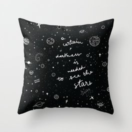 A certain darkness Throw Pillow