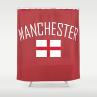 manchester Shower Curtains featuring Manchester by Earl of Grey