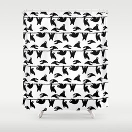 sloths pattern bw Shower Curtain