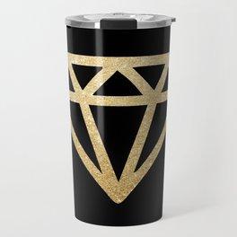 Diamond Gold Travel Mug