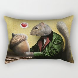Mr. Squirrel Loves His Acorn! Rectangular Pillow