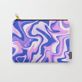 Pink, Blue and White Liquid Abstract Carry-All Pouch
