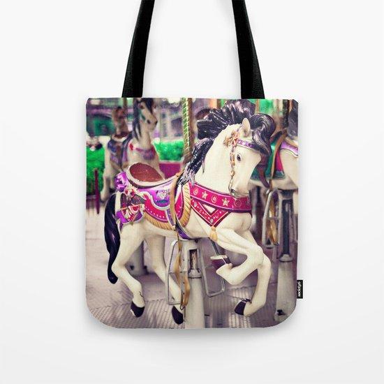 Floating Horse Tote Bag