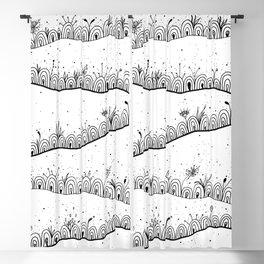 Doodle Landscape Illustration Blackout Curtain