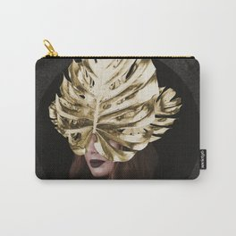 Mask of Golden Leaves Carry-All Pouch