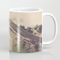 battlefield Mugs featuring Battlefield Fence by Sam Wesselhoft